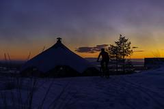 aamupyöräilijä (VisitLakeland) Tags: finland lakeland tahko luonto maisema nature outdoor scenery talvi nipasen kota nipanen