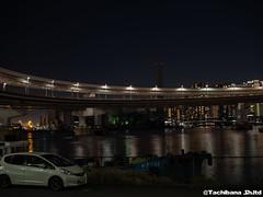 P1131177-HDR (et_dslr_photo) Tags: tokyo tokyonight tokyosunset tokyobay rainbowbridge odaiba shibaura