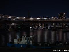 P1131171-HDR (et_dslr_photo) Tags: tokyo tokyonight tokyosunset tokyobay rainbowbridge odaiba shibaura