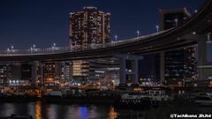 P1131168-HDR (et_dslr_photo) Tags: tokyo tokyonight tokyosunset tokyobay rainbowbridge odaiba shibaura
