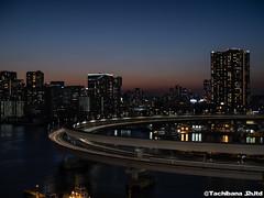 P1131138-HDR (et_dslr_photo) Tags: tokyo tokyonight tokyosunset tokyobay rainbowbridge odaiba shibaura