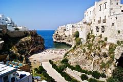 White Cliffs, Polignano a Mare, Italy (somabiswas) Tags: whitecliffs cliffs polignanoamare italy sand beaches travel mediterranean sea summer cruise