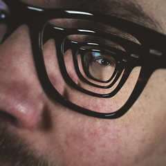 Day 17 : Deep Thoughts (Randomographer) Tags: project365 366 self portrait selfie eyes glasses multiple content aware photoshop bizarre weird unnatural supernatural unearthly otherworldly ghostly mysterious strange abnormal unusual human deep droste effect miseenabyme 17 2020 viii