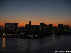 P1131132-HDR (et_dslr_photo) Tags: tokyo tokyonight tokyosunset tokyobay rainbowbridge odaiba shibaura