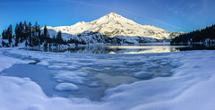 Winter Wonderland (Tom Fenske Photography) Tags: winter snow mountain cascades sister south ice water sun sunrise
