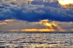 Clouds over the sea (prokhorov.victor) Tags: природа пейзаж морской море закат вечер небо облака лучи солнце вода