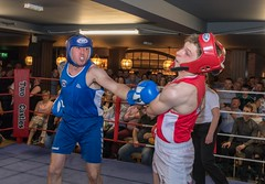 Boxing hit (grwmcfarland) Tags: sport boxing hit punch red blue mountjoy omagh accies