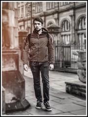 Edinburgh Urban Backpacker (FotoFling Scotland) Tags: backpacker edinburgh male street