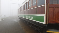 Photo of Snaefell Mountain Railway car at the Snaefell summit