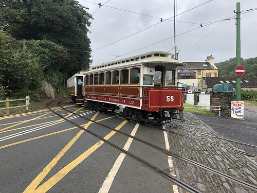 The Manx Electric Railway at Laxey