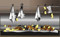Mejillones y langostinos (Amparo Higón) Tags: mejillones langostinos mussel prawn marisco seafood digitalart digitalpainting modernekunst modernart artemoderno pinturavectorial vectorpainting bodegón stilllife amparohigón clóchinas