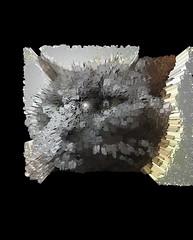 Extruded Bonkers (Emoji) (sjrankin) Tags: 18january2020 edited processed 3d extruded test output closeup animal cat bonkers kitahiroshima hokkaido japan