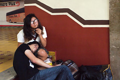 Waiting for the bus (klauslang99) Tags: klauslang streetphotography bus station people guanajuato mexico