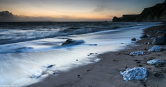 Trailing Behind (musxhiqe62) Tags: canon waves dungyhead canon80d sunset rocks uk england beach southcoast dorset