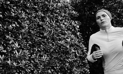 Run for home... (Baz 120) Tags: candid candidstreet candidportrait city contrast street streetphoto streetcandid streetportrait strangers rome roma ricohgrii europe women monochrome monotone mono noiretblanc bw blackandwhite urban life portrait people provoke italy italia grittystreetphotography faces decisivemoment