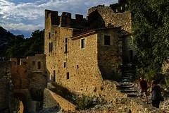 Tourists in saint montan (JLM62380) Tags: saintmontan france rempart tourists stairs rampart ardéche old architecture medieval castle château