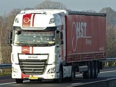DAF XF116 superspacecab from HST Groep Holland. (capelleaandenijssel) Tags: 44bkj7 enschede truck trailer lorry camion lkw netherlands nl