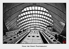 Canary Wharf Tube Station (Hans ter Horst Photography) Tags: 2009 england ilford london uk years hansterhorst hoshisato ilfordfp4 pentaxmzs believeinfilm filmphotography ishootfilm justpentax filmisnotdead