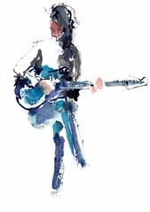 Femme en rock (Anne) [20200117]-2 (rodneyvdb) Tags: musician music art rock illustration ink concert guitar drawing femme fender guitarist stage spotlight rocker rockband explore habitants