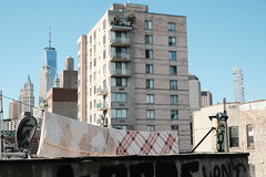 City landscape (Zach K) Tags: laundry drying hanging wall roof rooftop nyc new york city urban urbanism form urbandesign urbanform landscape urbanlandscape fuji fujifilm xpro2 xf35mmf14