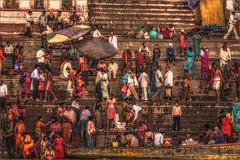 morning rush (felixvancakenberghe) Tags: asia asian hinduism india people religion varanasi