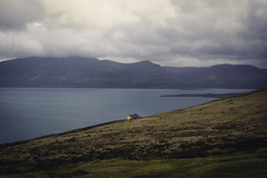 Orange house on the hill (dave.ryan.photo) Tags: hill house ireland kerry lonely mountbrandon mountain ocean wildatlanticway