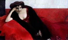 IMG_4888 Otto Friedrich 1862-1937 Wien Lady in red.   Dame en rouge 1909 Wien Leopold Museum (jean louis mazieres) Tags: peintres peintures painting musée museum museo österreich autriche austria vienne wien léopoldmuseum