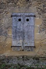 Four holes (Ivan van Nek) Tags: france frankrijk frankreich 32 masseube gers shutters luiken volets decay doorsandwindows ramenendeuren portesetfenêtres wall muur nikon nikond7200 sigma1770