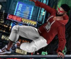 #326 (SoulCrack3r) Tags: treizeddesign beard shades motiv8 offline night neon tokyo hoodie sweatpants