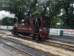 M.N.R. No. 4 Caledonia steam locmotive at Castletown railway station