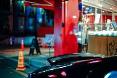 2053/1743 (She's taking a photo) (june1777) Tags: snap street alley seoul night light bokeh sony a7ii konica hexanon ar 50mm f17 2500 clear shinsadong garosugil art3