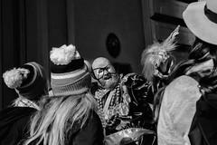 Mummers New Year's Day Parade, 2020 (Alan Barr) Tags: philadelphia 2020 mummer mummersparade mummers newyear parade street sp streetphotography streetphoto blackandwhite bw blackwhite mono monochrome candid city people panasonic gx9