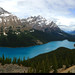 20180615_i1 Panorama of the lovely Peyto Lake in Banff National Park, Alberta, Canada