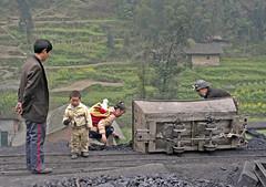 Mine - collecting fuel 2 (goremirebob) Tags: china narrowgauge coal family work railways industrialrailways