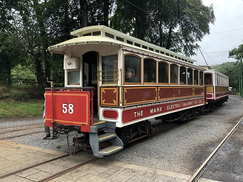 The Manx Electric Railway at Laxey station