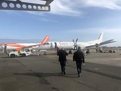 Loganair Saab 2000 aircraft at Isle of Man Airport
