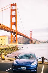 New Electric San Francisco (Thomas Hawk) Tags: america bayarea bluestar california fortpoint goldengatebridge model3 robertscoble sf sfbayarea sanfrancisco scobleizer tesla teslamodel3 usa unitedstates unitedstatesofamerica westcoast auto automobile bridge car electriccar fav10 fav25 fav50