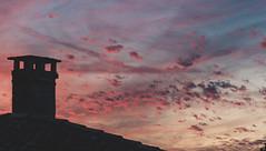 Artist's sky (Jean-Luc Peluchon) Tags: fz1000 aquitaine charente nouvelleaquitaine ciel sky nuage cloud coucherdesoleil sunset sunrise color couleur contrejour shadow backlight pastel cheminée fireplace toit toiture roofing roof