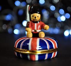 Beefeater Teddy Guarding the Crown Jewels. :-) (Hoglands) Tags: guard beefeater buckinghampalace teddy teddybear trinketbox unionflag unionjack britain uk unitedkingdom england