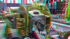 Restoration aandrijving Loc 10-1075 SSN Rotterdam 3D (wim hoppenbrouwers) Tags: restoration aandrijving loc 101075 ssn rotterdam 3d anaglyph stereo redcyan stoomstichting stoomdepot