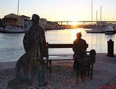 le pêcheur et la ramendeuse_martigues-2 (degun67) Tags: martigues bouches rhone provence ruelle sud canal eau eglise pont bateau ciel bleu nuage pecheur ramendeuse