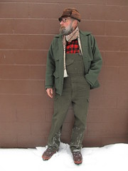 1-18-2020 Today's Clothes (Michael A2012) Tags: this mans winter style vintage fashion peterson fur cap sweden filson double mackinaw coat bib field pants nike trailscape boots amana woolen mills scarf wool woolrich buffalo check