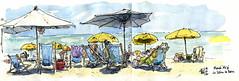 """""""Planch'Alizé"""" (Phil de couleur) Tags: sun aquarelle bronzage encre reunion ink ombre plage sketch dessin lagoon lagon watercolor croquis beach"""