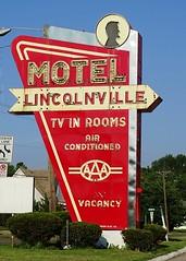 IA, Burlington-U.S. 34(Old) Lincolnville Motel Neon Sign