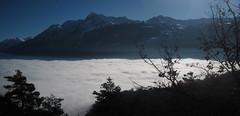 Mare valdstano (iRe V) Tags: mare valle daosta aosta valley sea view fog clouds nebbia nube above sopra le nuvole blue sky alps italy sun inverno winter
