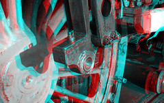 Restoration aandrijving Loc 10-1075 SSN Rotterdam 3D (wim hoppenbrouwers) Tags: restoration aandrijving loc 101075 ssn rotterdam 3d anaglyph stereo redcyan stoomstichting stoomdepot overhaul locomotive steamtrain train