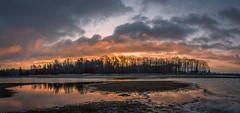Rainy conditions (Pieter ( PPoot )) Tags: sunrise clouds rain npdwingelderveld panorama