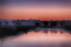 Dawn over Walton Heath (OutdoorMonkey) Tags: waltonheath glastonburytor avalonmarshes water lake marsh wetland somerset glastonbury ashcott morning dawn earlymorning calm serene outside outdoor rural nature natural scenic scenery countryside nationalnaturereserve nnr rspb hamwall sunrise
