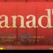20180615_12 Red train car with Canada & grain logos in Jasper, Alberta, Canada