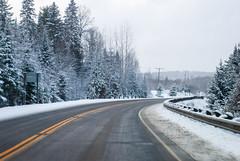 Green Lake, Dysart et al, Ontario, Canada (Tiphaine Rolland) Tags: ontario canada dysartetal haliburtoncounty haliburton haliburtonhighlands highlands algonquinhighlands algonquin winter hiver 2019 nikond3000 nikon d3000 snow neige white blanc road route greenlake